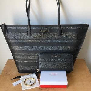 Kate Spade BUNDLE Large Bag Wallet Bracelet